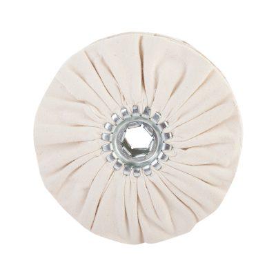 Х/Б круг мягкий D 150 мм полировальный диск белого цвета